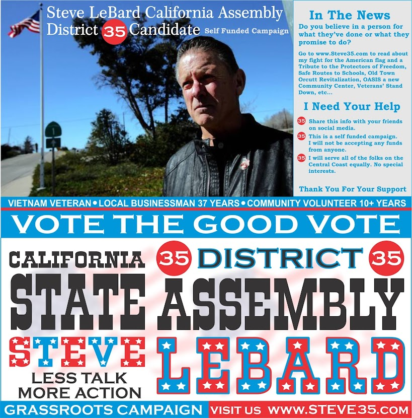 Steve LeBard - California Assembly District 35 Candidate