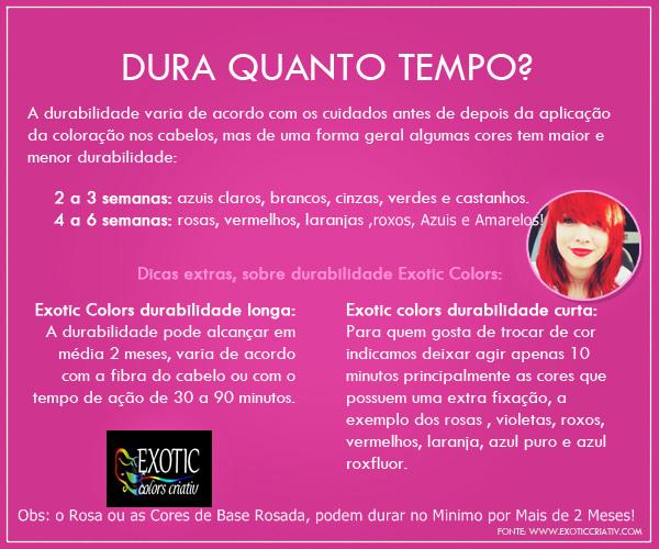 exotic colors tinta fantasia - r$ 13,00 em mercado livre