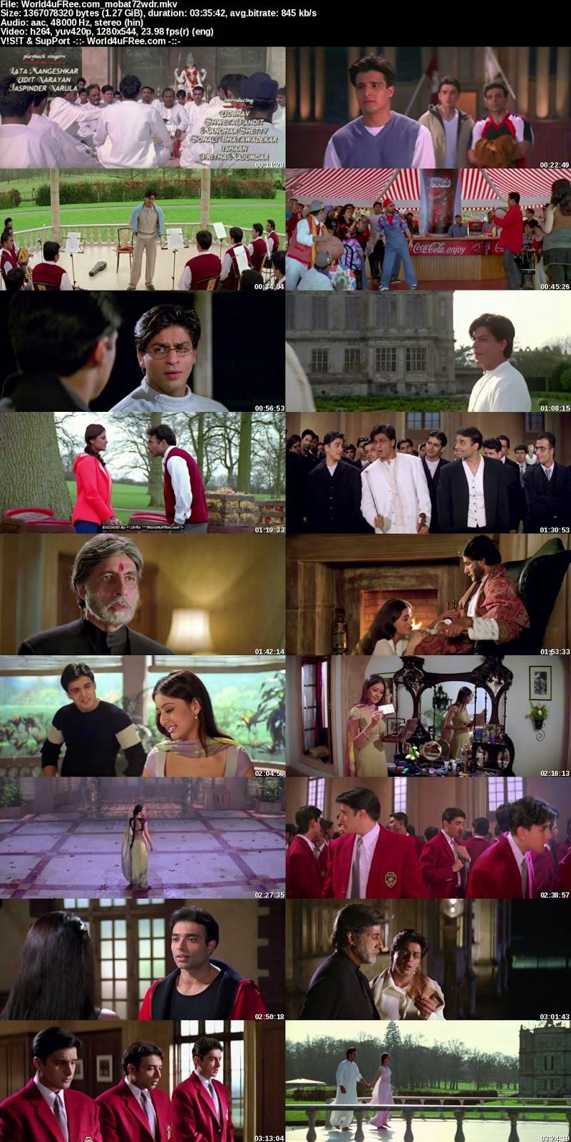 Download Mohabbatein 2000 720p Brip 1 3gb Full Movie