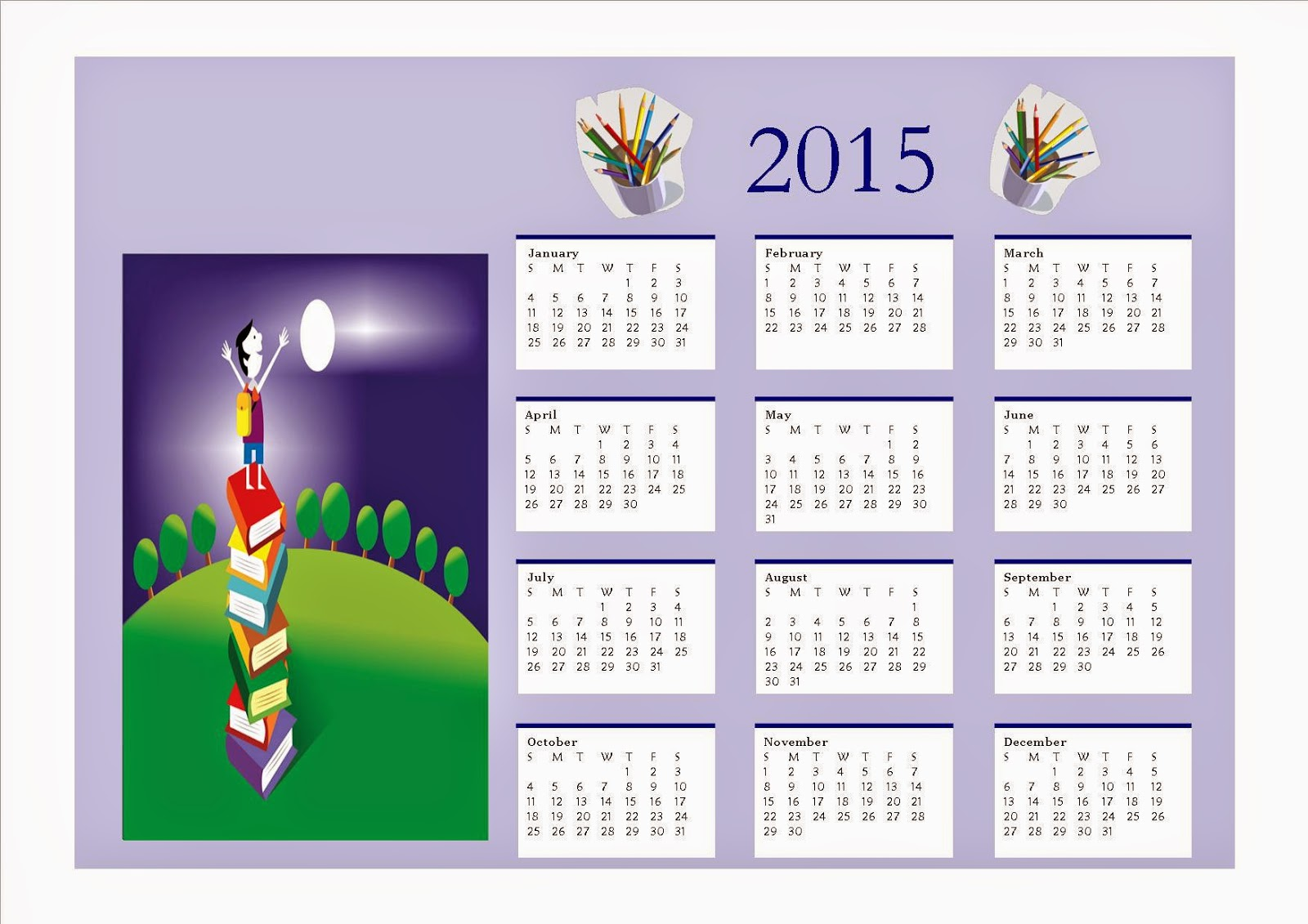 Calendar Pictures For Kids : Free printable calendar for kids parenting times