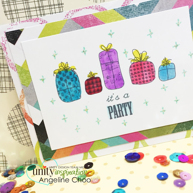 ScrappyScrappy: It's a party! #scrappyscrappy #unitystampco #sotw #card #copic