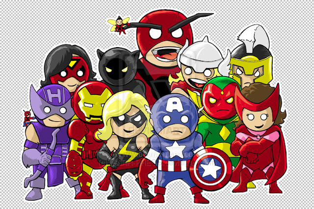 The Mighty Avengers por MARR-PHEOS