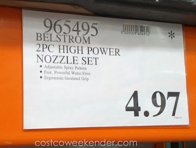 Deal for the Belstrom 2-piece High Power Nozzle Set at Costco
