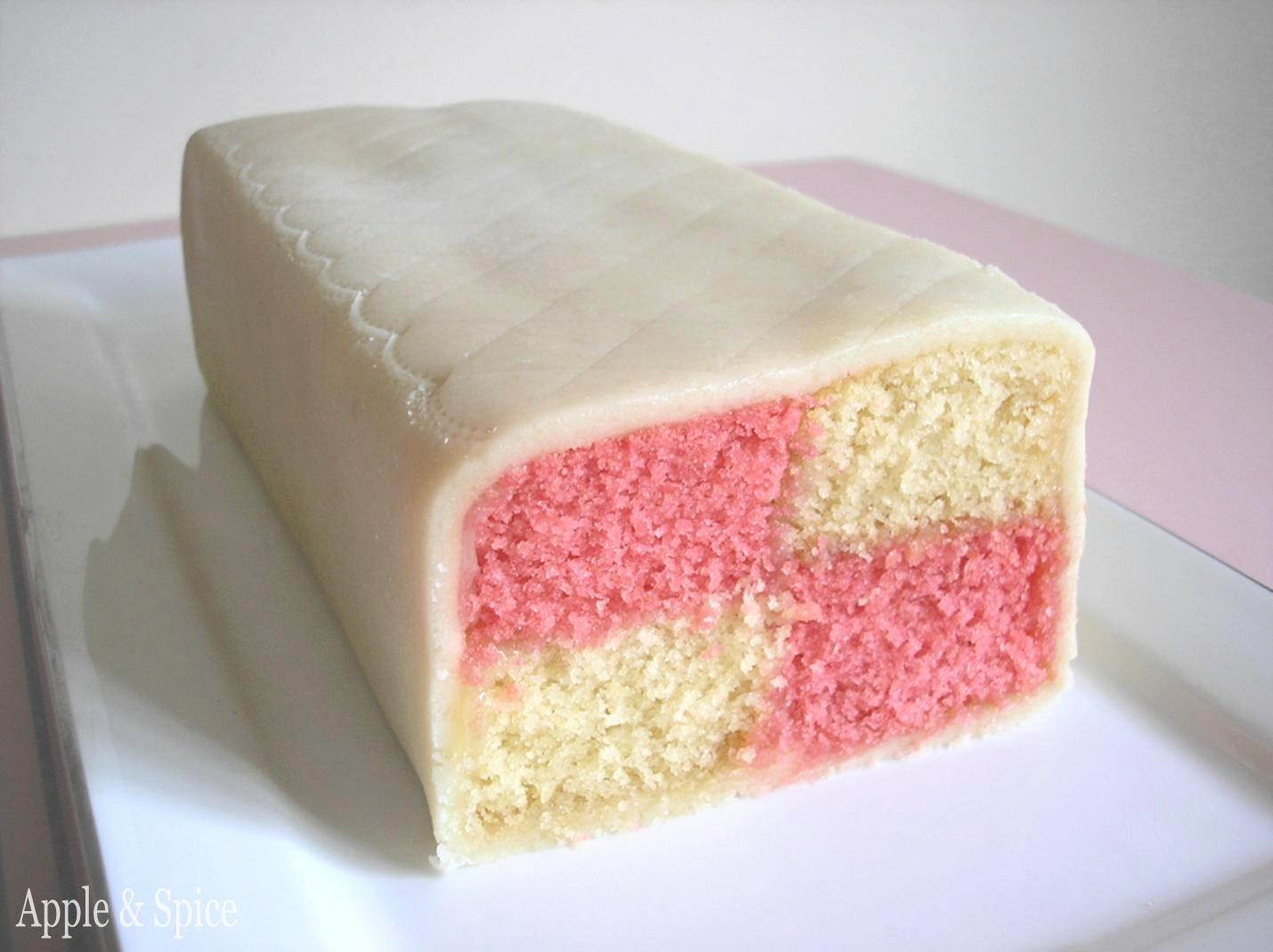Ice Cream With Battenburg Cake