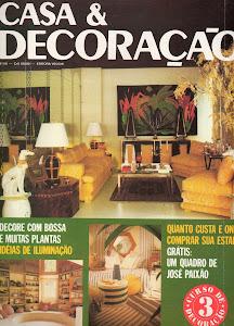 Capa da revista Casa e Decoração.
