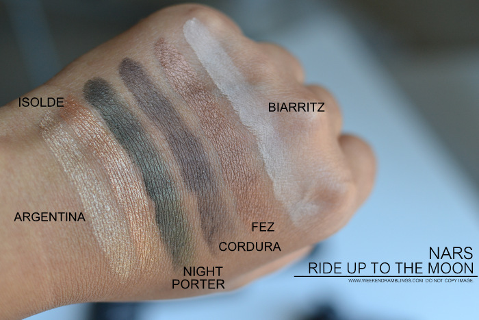 NARS Fairys Kiss Ride Up to The Moon Eyeshadow Palettes Fall 2013 Gifting Collection Photos Swatches Makeup Beauty Blog
