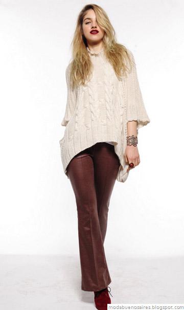 Mab moda invierno 2012. Sweaters tejidos.