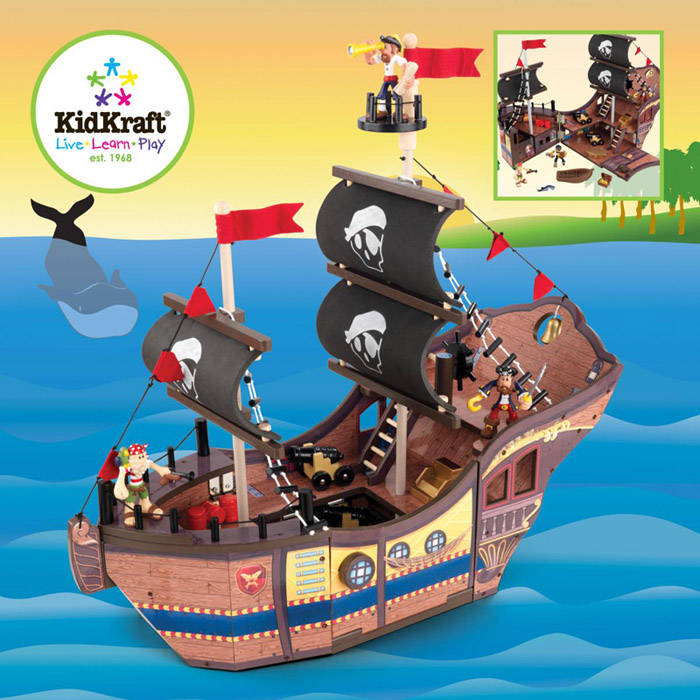 Pirate Toys For Boys : Children s wooden toys toy play kitchen furniture