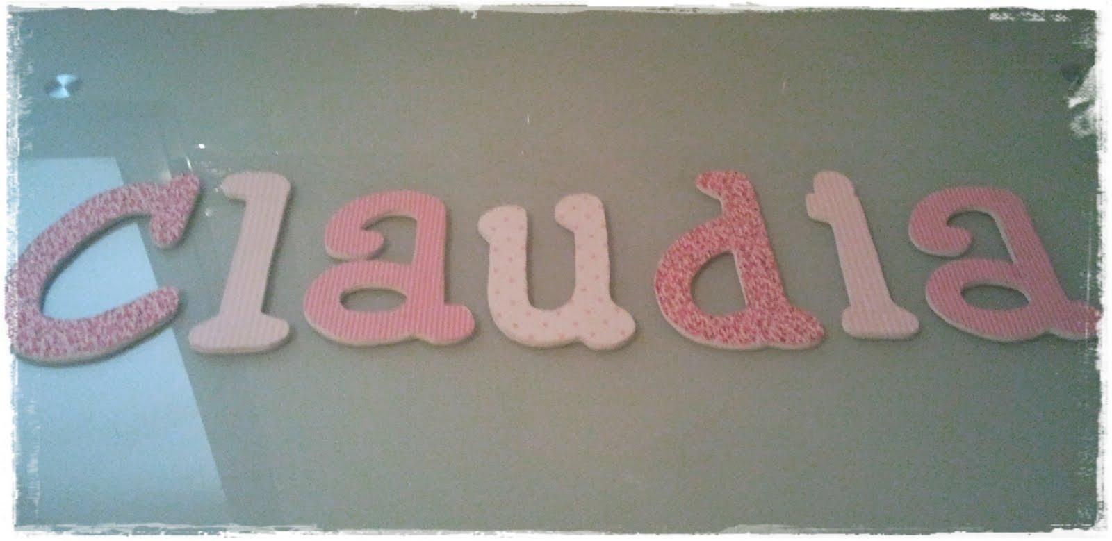 Qu de cucadas letras de pared para claudia - Letras para pared ...