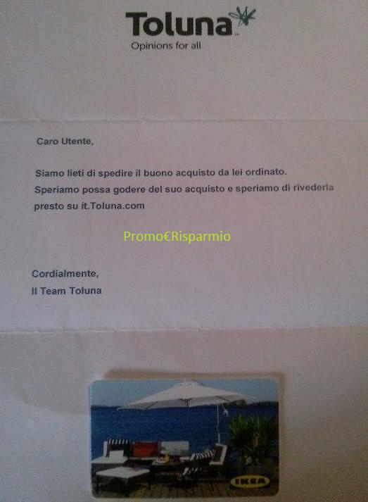 Promo risparmio buono acquisto ikea da 20 euro riscattato con toluna - Acquisto on line ikea ...