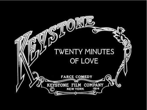 Comienzo de la película : Twenty Minutes of Love, 1914 de Charles Chaplin