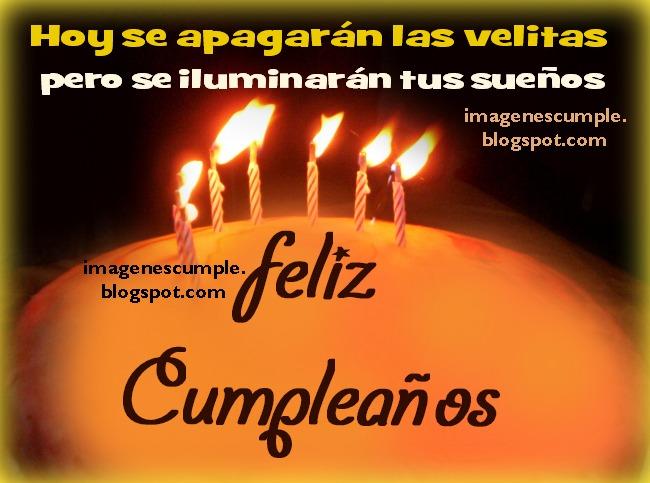 imágenes de cumple por Mery Bracho. Feliz Cumpleaños con Buenos Deseos para ti. Bonita tarjeta, felicitación gratis para amigos y familia con pastel y velas.