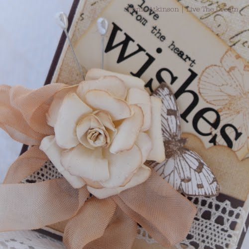 Rolled Rose Shabby Posies