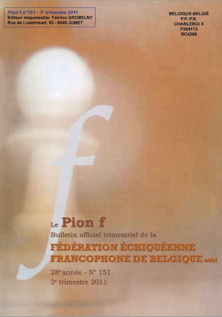Pion f n.151 (free chess magazine from belgium) Pionf1