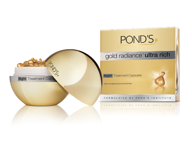 Pond&#8217;s launches gold radiance&#8482; Ultra Rich Night Treatment Capsules 
