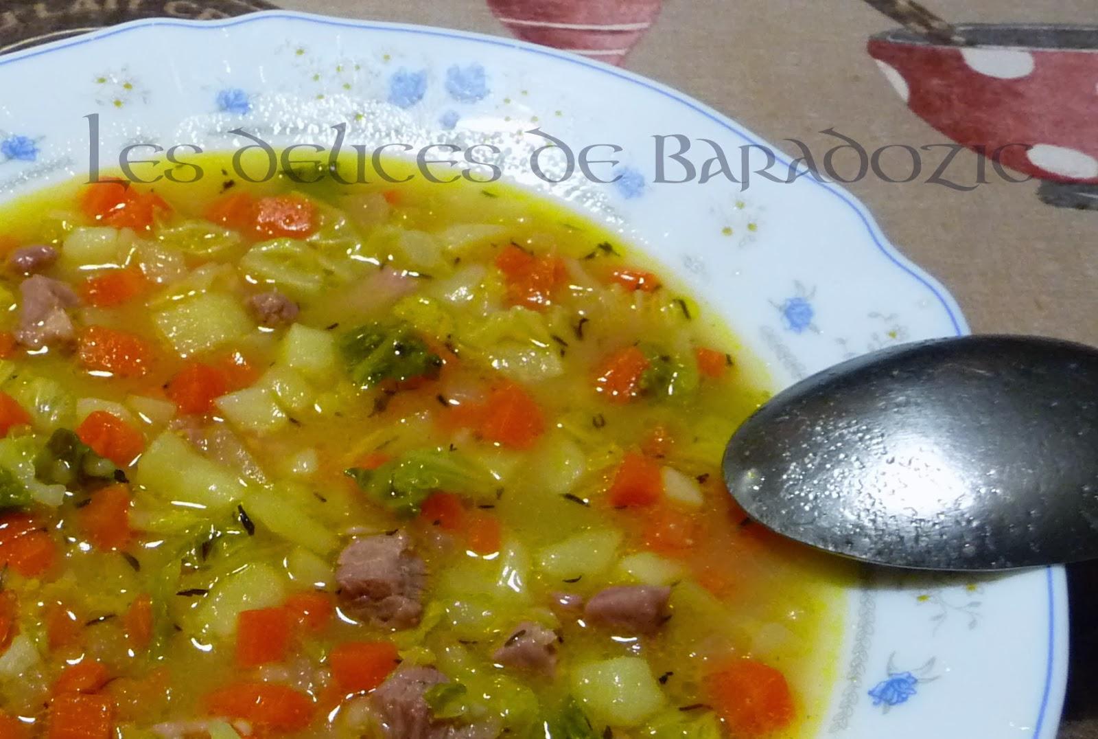 Soupe aux choux - Les délices de Baradozic