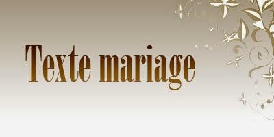 Texte mariage gratuit