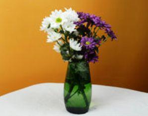 jambangan bunga dari botol