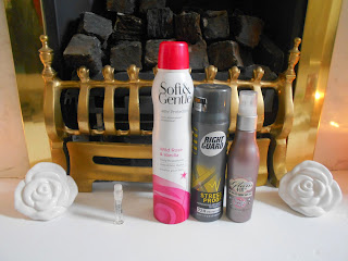Diesel Loverdose, Soft & Gentle Deodorant, Right Guard Deodrant & Soap and Glory Glam-a-Lot Body Spray