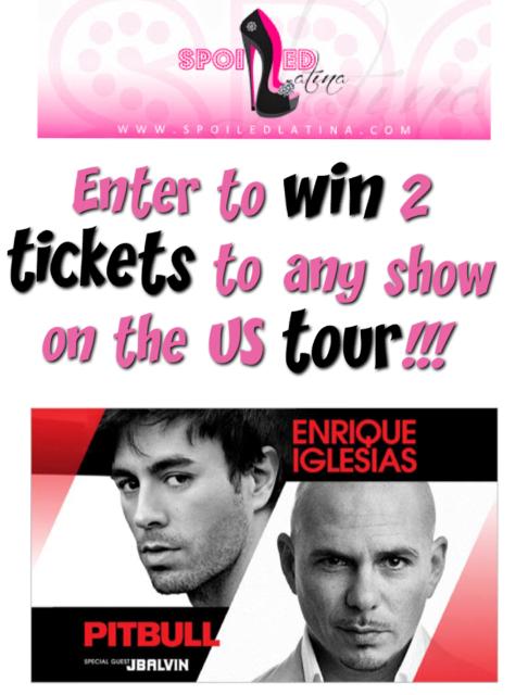 Enrique Iglesias, Pitbull & J.Balvin concert tickets - giveaway