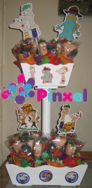 Arreglo De Cake Pops Phineas Ferb Y Perry Gelatina De