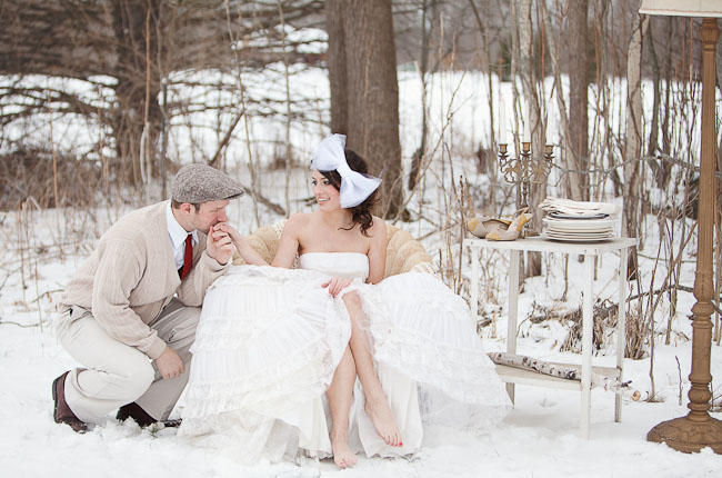 A winter wedding with a unique style and twist