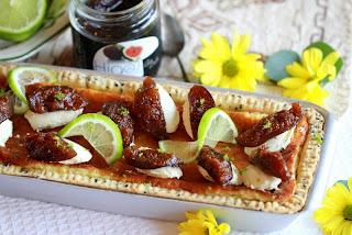 Pastís de mascarpone, yuzu i figues confitades Can Bech