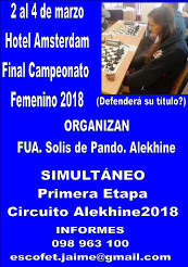Final Femenino. I Etapa Alekhine