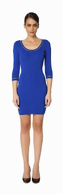 mavi yuvarlak yaka elbise, kısa elbise 2014
