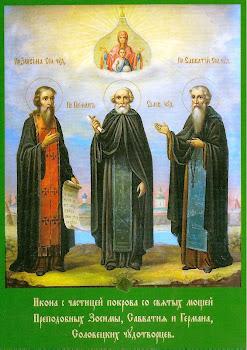 Sfintii Zosima, Savatie si Gherman intemeietorii Manastirii Solovat