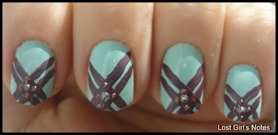criss cross nail art