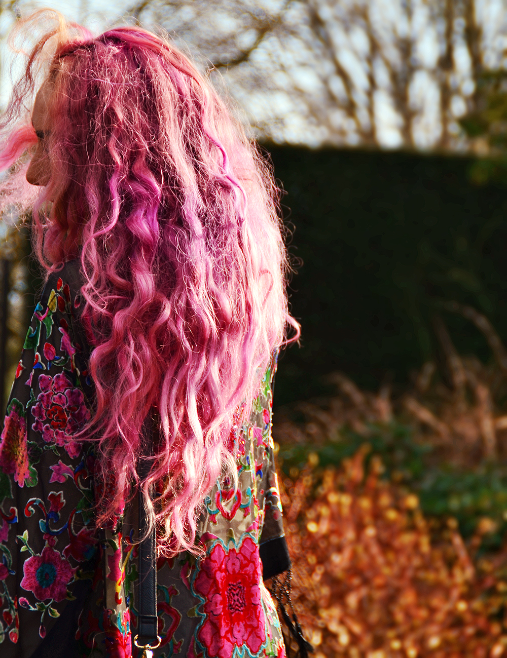 Mermaid Pastel Pink Purple Curly Hair // Things That Happen with Bright Coloured Hair