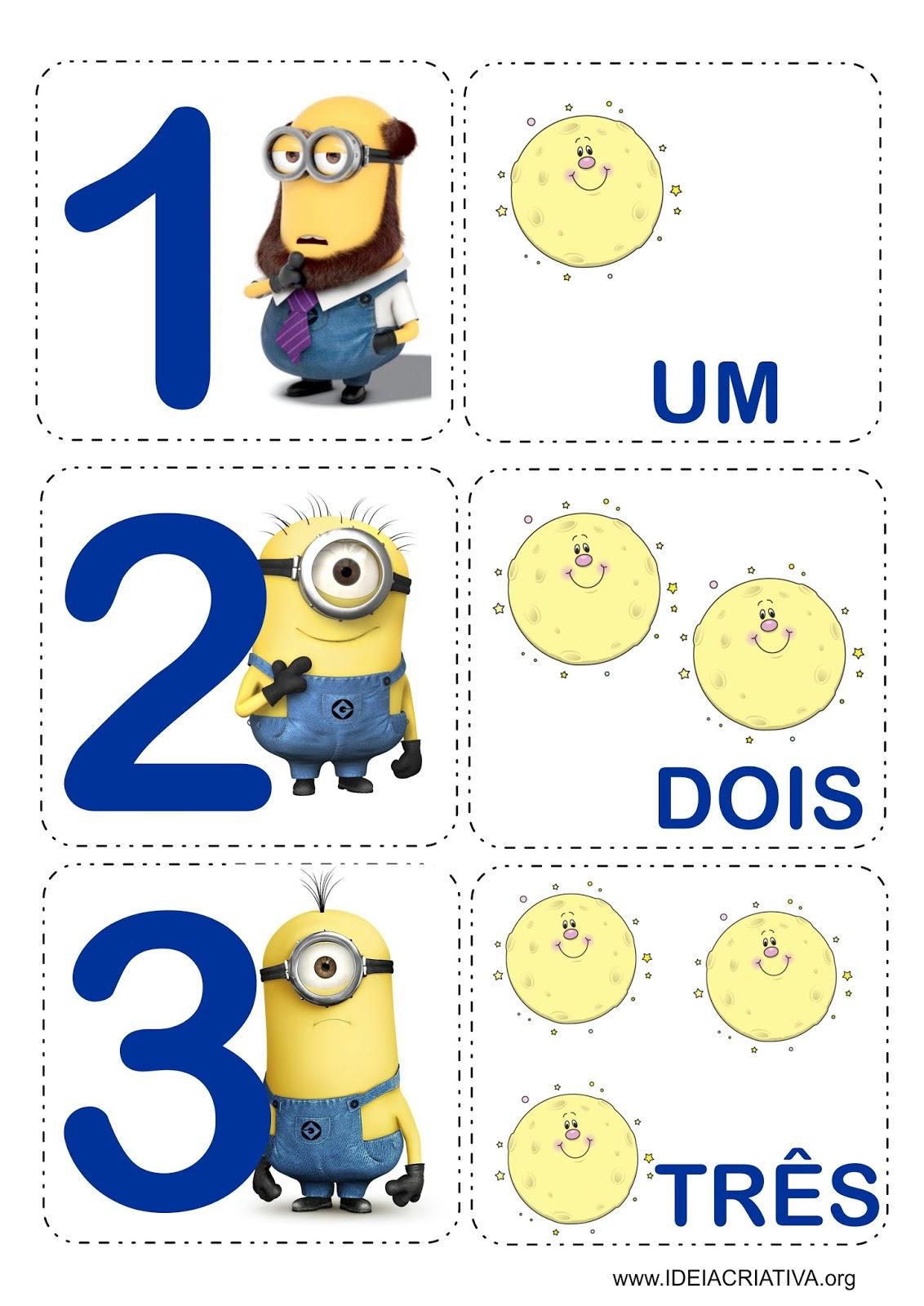 Excepcional Matemática Infantil: Flash Cards Jogo da Memória Minions Meu  OR44