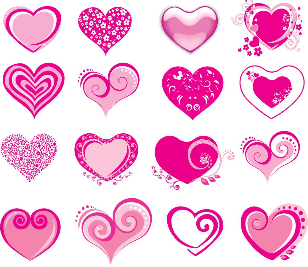 Valentine's Day Heart Vector : グラフ テンプレート 無料 : 無料