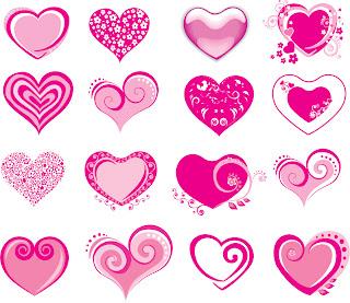 バレンタインデー ハート テンプレート Valentines day hearts templates イラスト素材