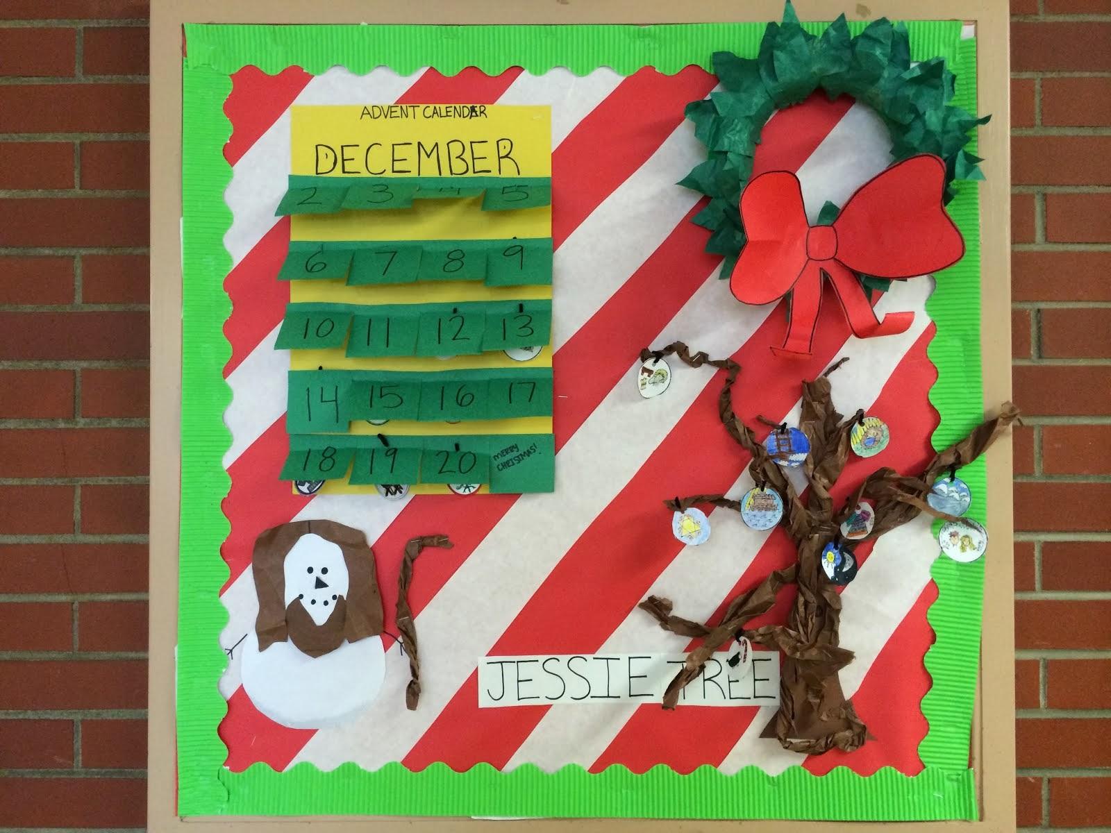 Advent Calendar Bulletin Board : The catholic classroom our school advent calendar jesse tree