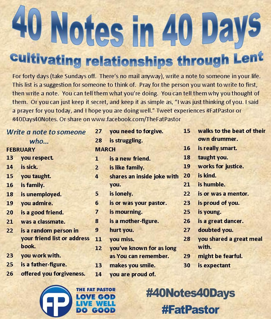 40 Days Of Dating Love Letters