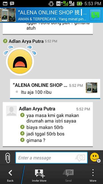 Ngerjain Penipu Toko Handphone Online Batam Via BBM