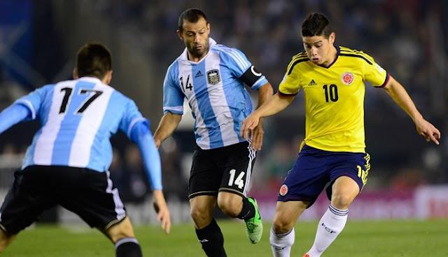 Ver partido Colombia vs Argentina en vivo