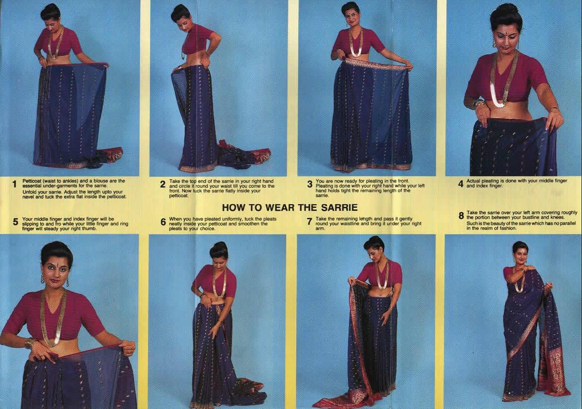 Как сделать сари своими руками