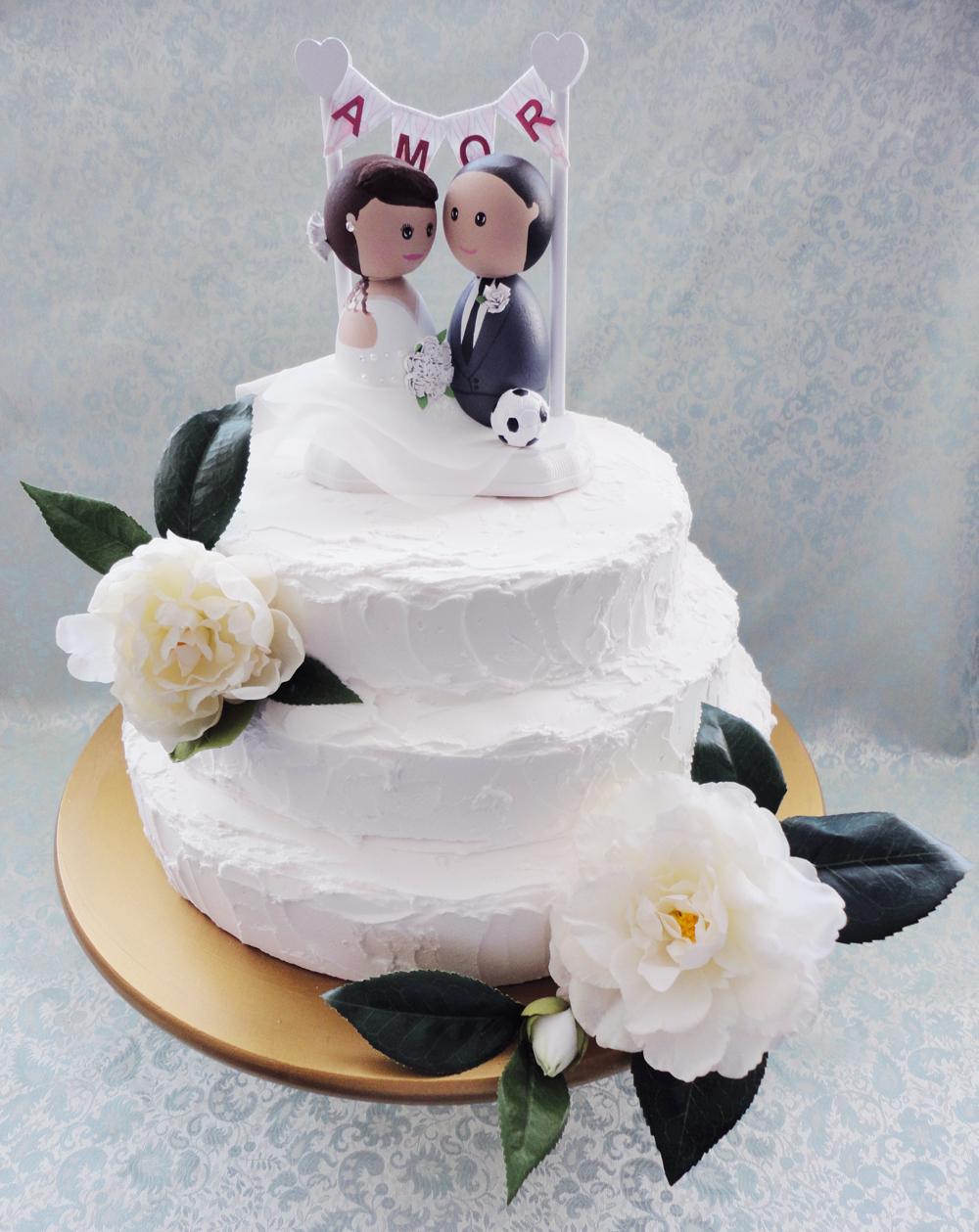 Soccer Player Wedding Cake Topper