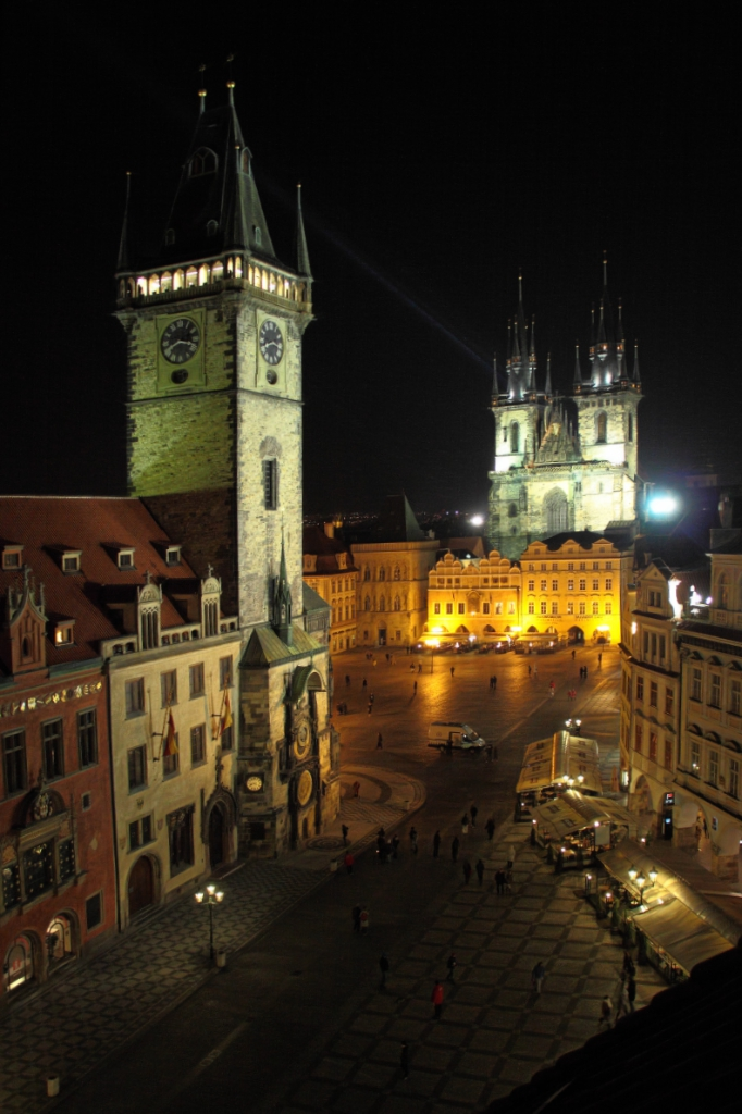 Ford family photos old town square at night prague for Terrace u prince prague