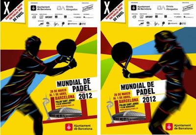 Cartel Mundial Padel Barcelona 2012
