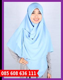 Hijab segi empat wajah bulat