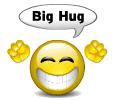 Big hug smiley