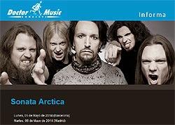 Conciertos de Sonata Arctica en Madrid y Barcelona