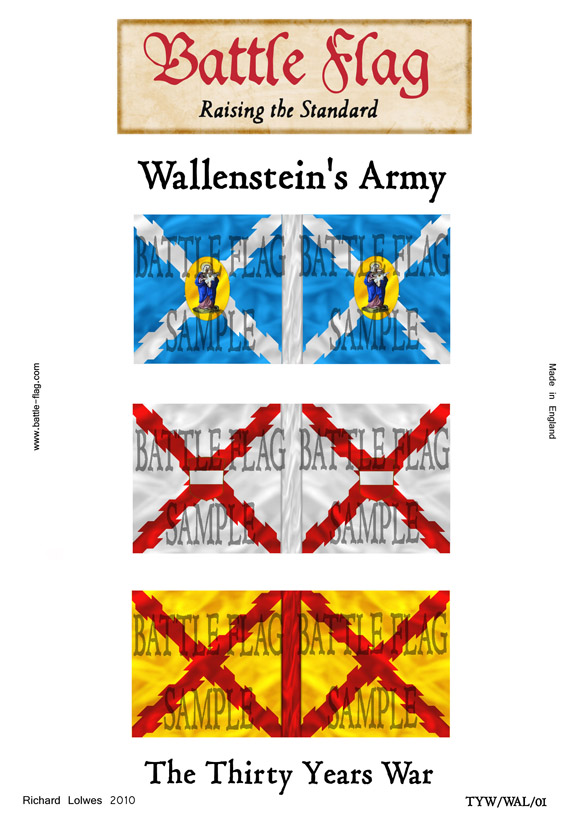 Thirty Years War Battle Flags