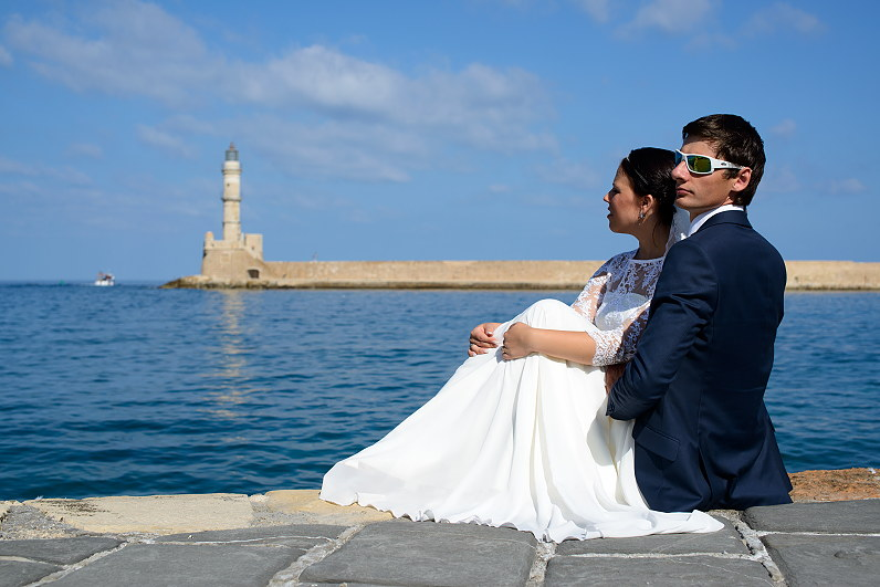 vestuvės prie jūros Graikijoje