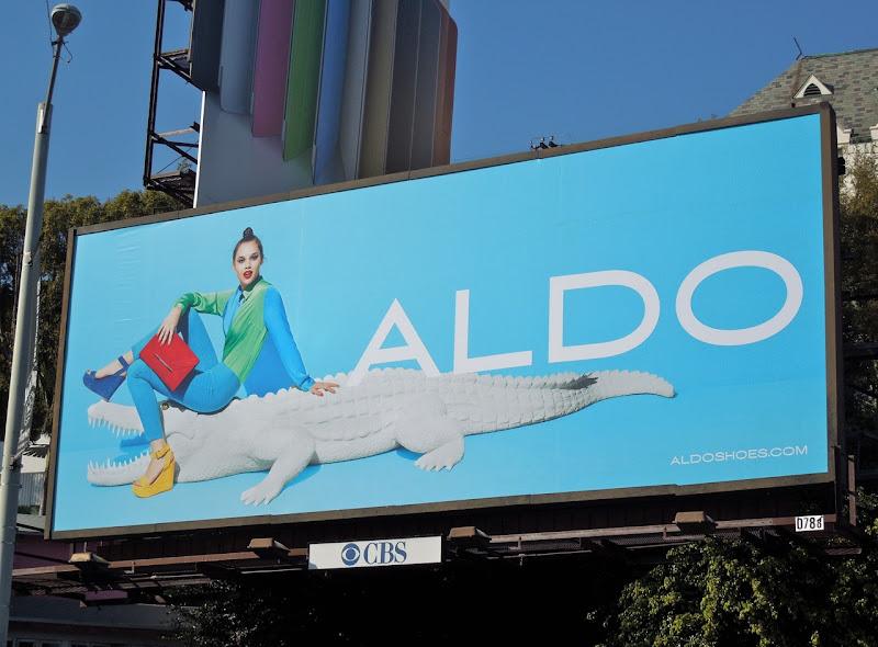 Anais Pouliot Aldo gator billboard