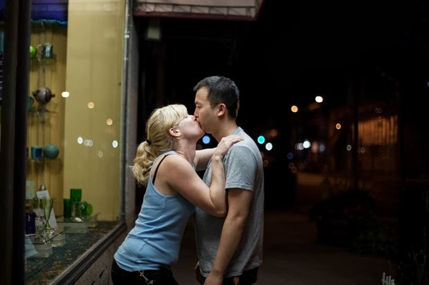 Tommy Kha self-portraits kissing